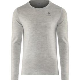 Odlo Suw Natural T-shirt manches longues à col ras-du-cou Homme, grey melange-grey melange